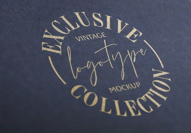 Exclusive vintage logotype mockup collection