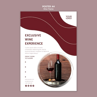 Exclusive wine experience poster template
