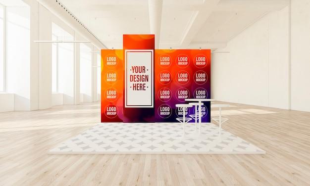 Выставочный стенд на минимальном макете большого зала