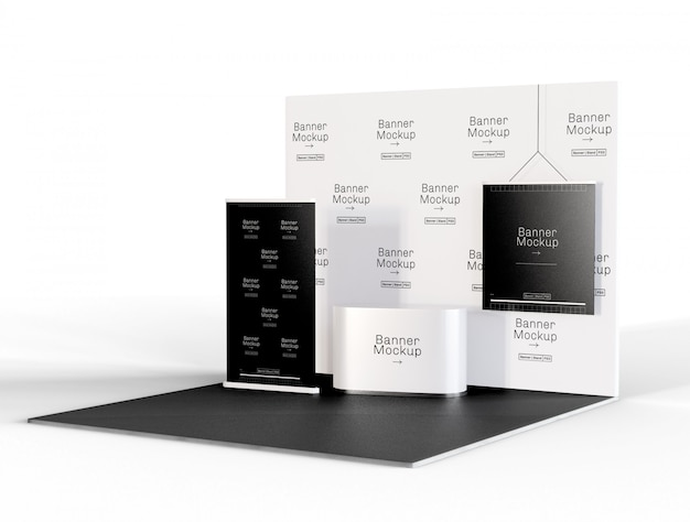 Exhibition and promotion stand mockup