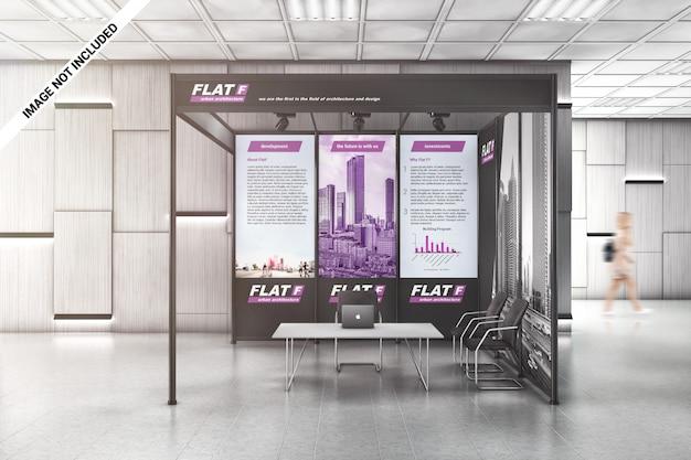 Exhibition shell scheme mockup