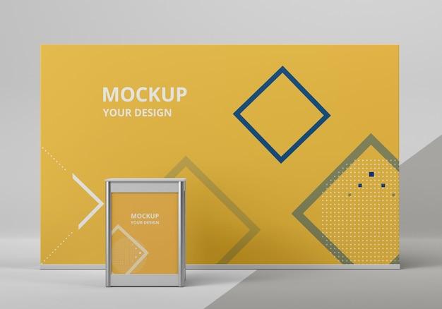 Exhibition stand mock-up arrangement