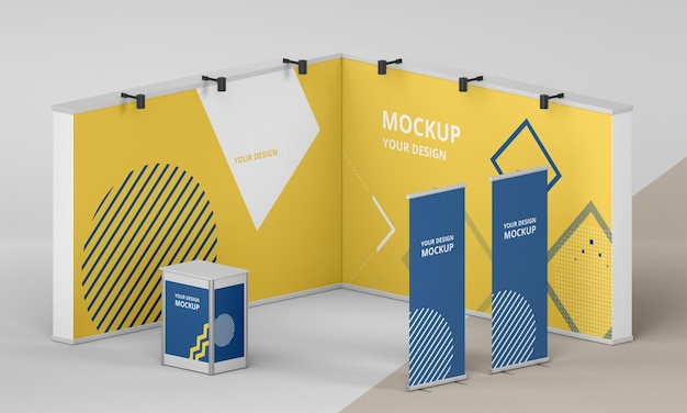 Exhibition stand mock-up assortment