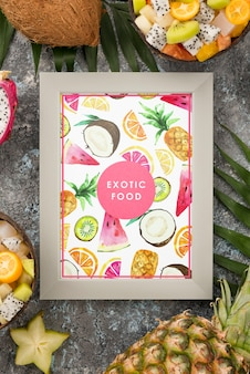 Exotic food concept with frame