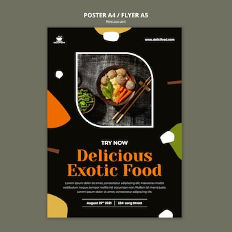 Exotic food poster template