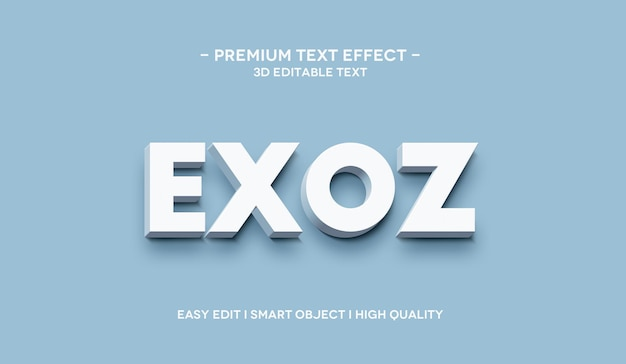 Exoz 3d text effect template