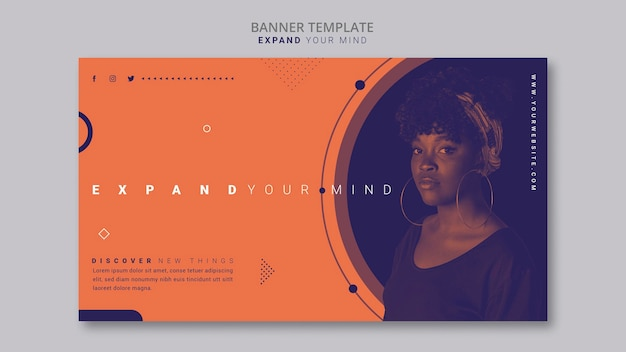 Expand your mind banner template