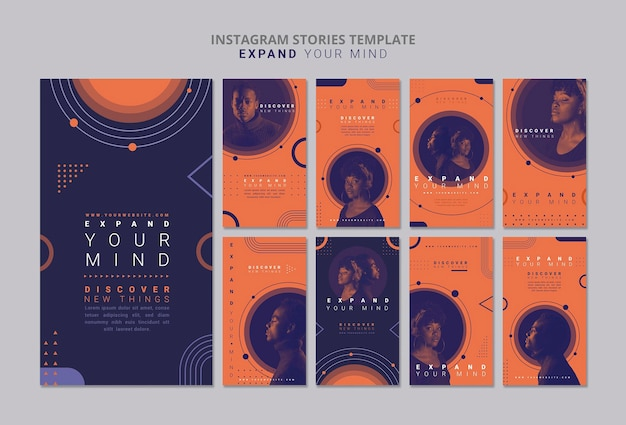 Expand your mind instagram stories template