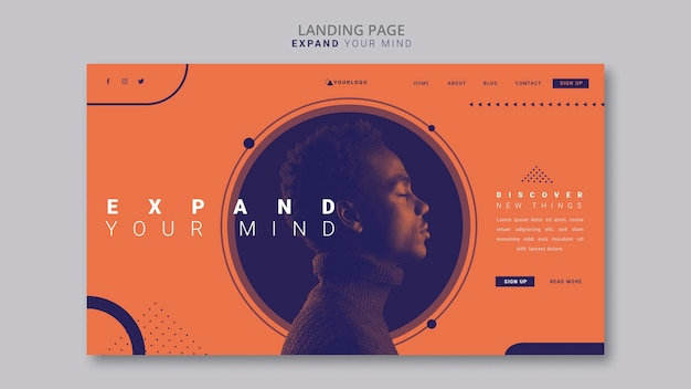 Expand your mind landing page template