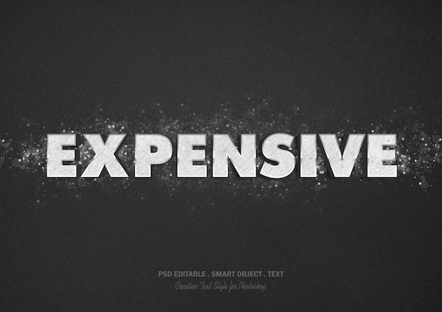 Expensive text effect