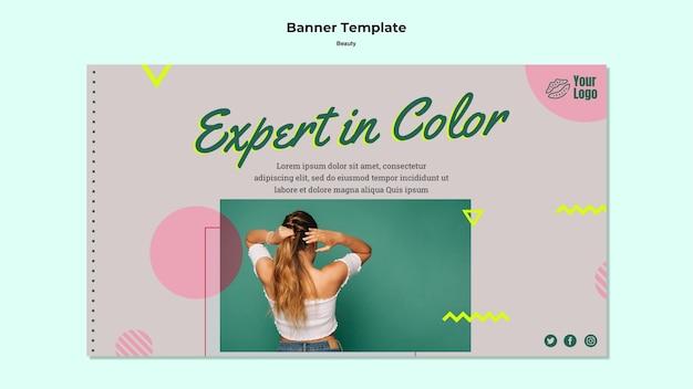 Эксперт по цветному баннеру веб-шаблона