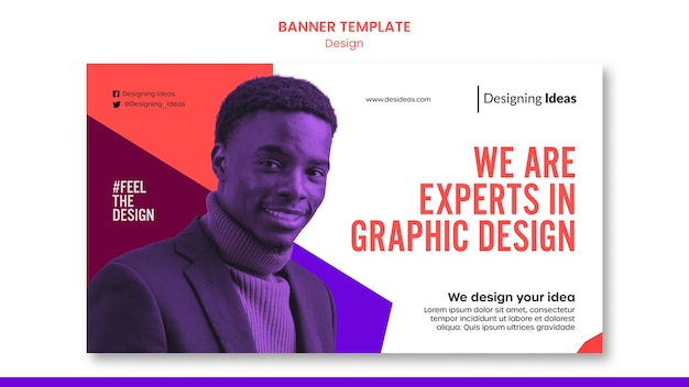 Experts in graphic design banner template