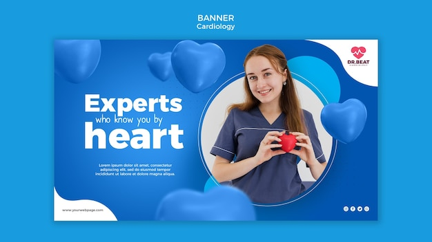Experts who know you by heart banner web template
