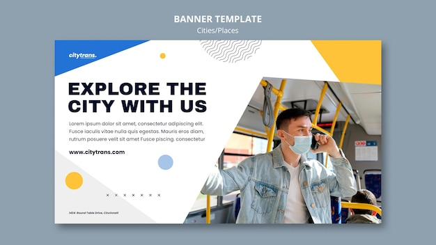 Explore the city banner template