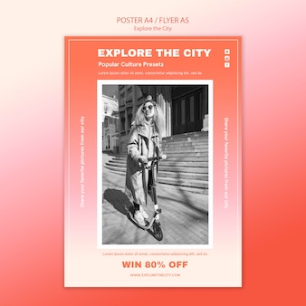 Explore the city flyer print template