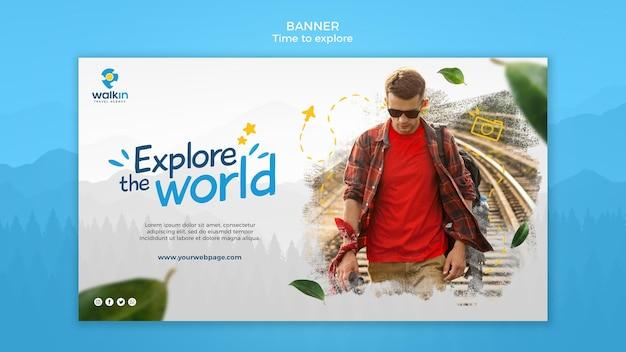 Explore concept banner template