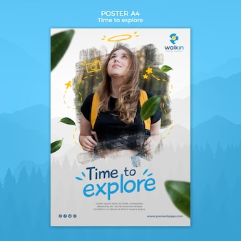 Explore concept poster template