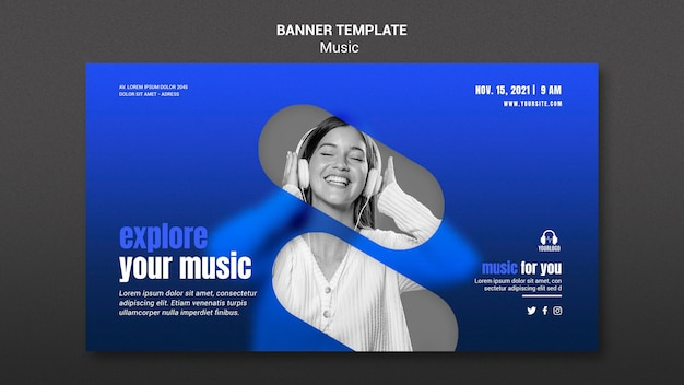 Explore music banner template