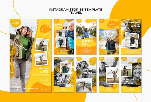Explore the world instagram stories template