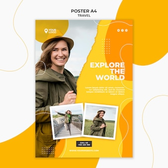 Explore the world poster template