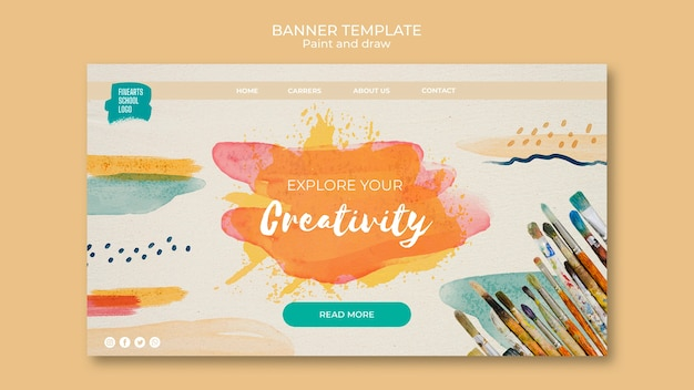 Explore your creativity banner template