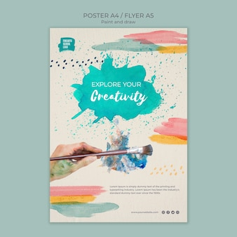Explore your creativity flyer template
