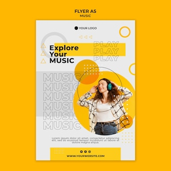 Explore your music flyer template