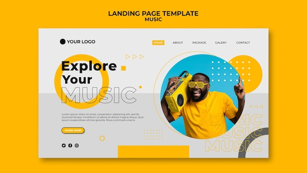 Explore your music landing page template