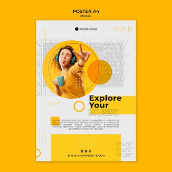 Explore your music with friends poster template