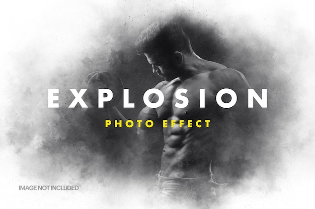 Explosion photo effect template