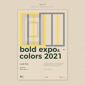 Modello di poster per eventi di esposizione