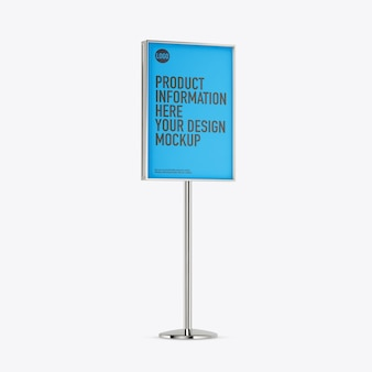 Exterior banner mockup on white space
