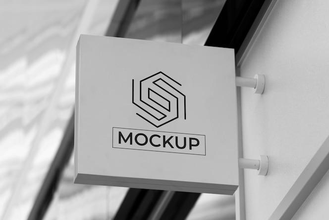 Exterior business sign mock-up