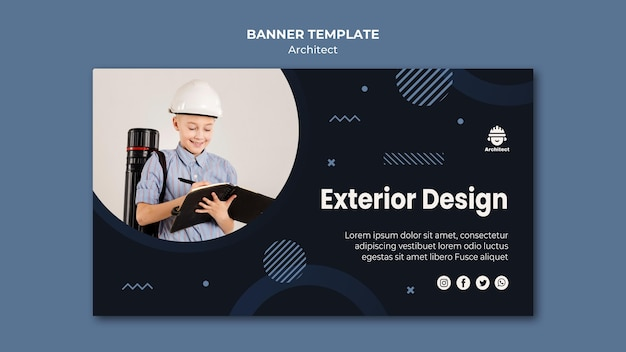 Modello di bandiera di design esterno