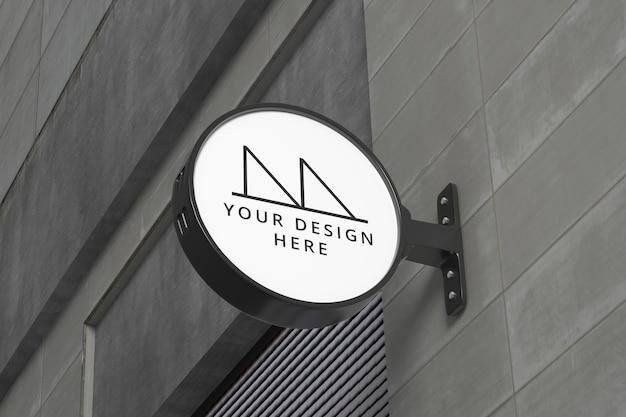 Exterior shop sign mockup