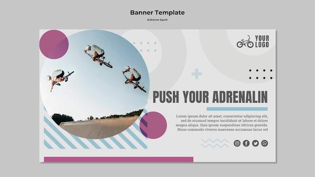 Extreme sport banner design