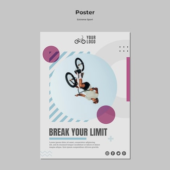 Extreme sport poster