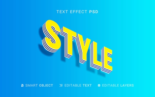 Extrusion style text effect