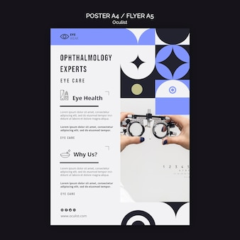 Eye health poster template