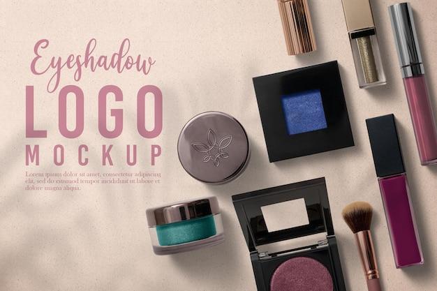 Eyeshadow packaging logo mockup design