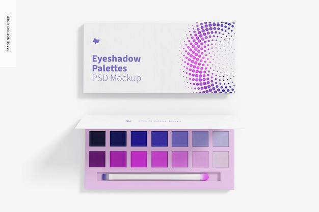 Eyeshadow palette mockup, top view