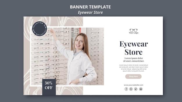 Eyewear store banner theme