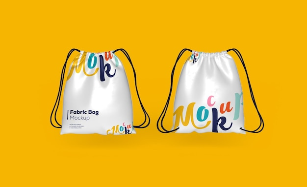 Fabric backpack bag mockup