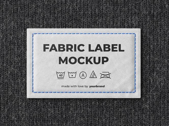 Modello di mockup di etichetta in tessuto