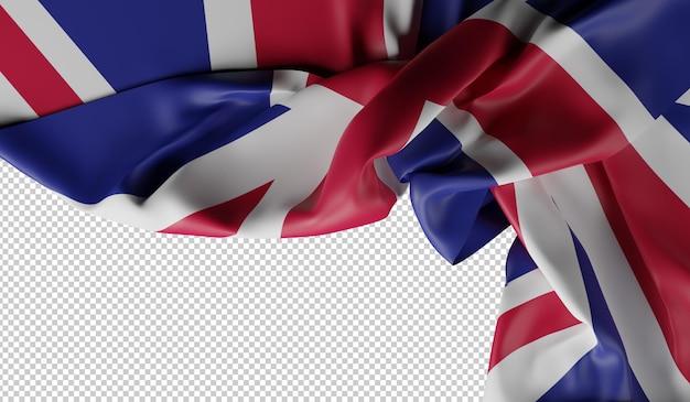 Текстура ткани флага соединенного королевства. 3d рендеринг