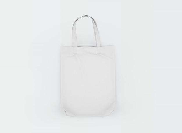 白の生地のトートバッグ