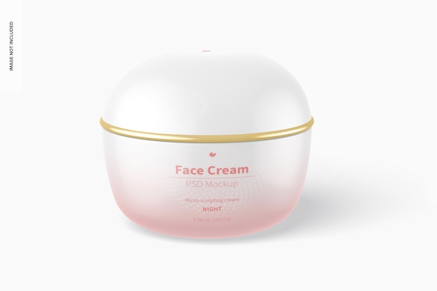 Face cream mockup, front view