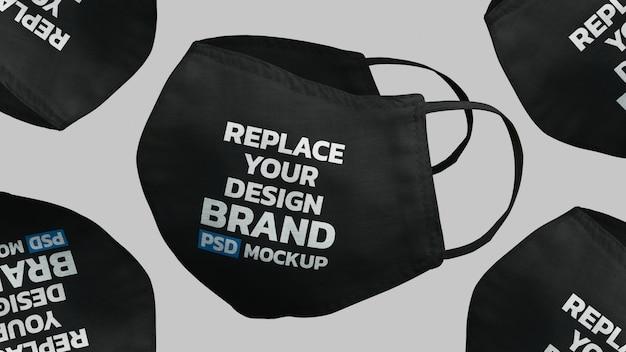 Face mask mockup design