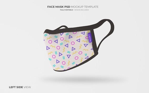 Макет маски для лица на левой стороне
