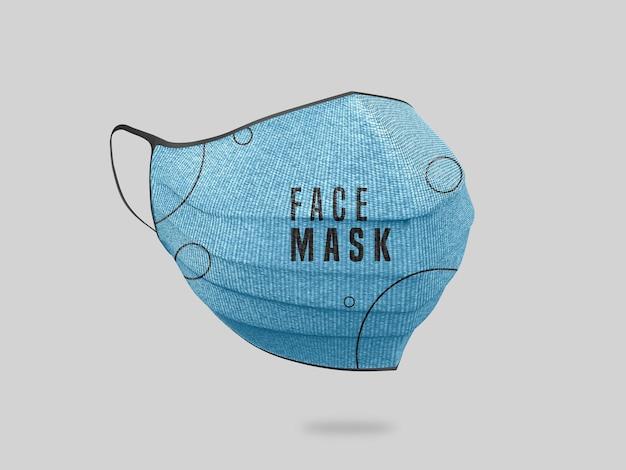 Face mask mockup Free Psd